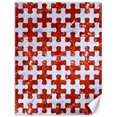 Puzzle1 White Marble & Red Marble Canvas 12  X 16   by trendistuff