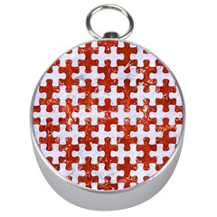 Puzzle1 White Marble & Red Marble Silver Compasses by trendistuff
