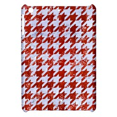 Houndstooth1 White Marble & Red Marble Apple Ipad Mini Hardshell Case by trendistuff