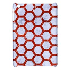 Hexagon2 White Marble & Red Marble (r) Apple Ipad Mini Hardshell Case by trendistuff