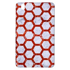 Hexagon2 White Marble & Red Marble (r) Samsung Galaxy Tab Pro 8 4 Hardshell Case