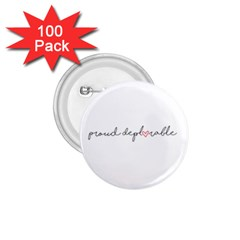 Proud Deplorable Maga Women For Trump With Heart And Handwritten Text 1 75  Buttons (100 Pack)  by MAGA