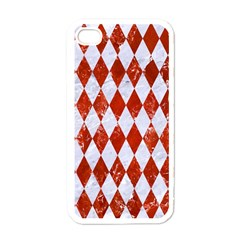 Diamond1 White Marble & Red Marble Apple Iphone 4 Case (white)