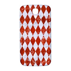 Diamond1 White Marble & Red Marble Samsung Galaxy S4 I9500/i9505  Hardshell Back Case by trendistuff
