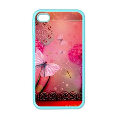 Wonderful Butterflies With Dragonfly Apple Iphone 4 Case (color) by FantasyWorld7