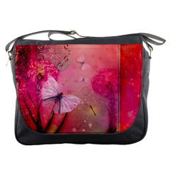 Wonderful Butterflies With Dragonfly Messenger Bags by FantasyWorld7