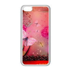 Wonderful Butterflies With Dragonfly Apple Iphone 5c Seamless Case (white)