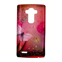 Wonderful Butterflies With Dragonfly Lg G4 Hardshell Case by FantasyWorld7