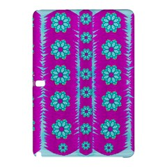 Fern Decorative In Some Mandala Fantasy Flower Style Samsung Galaxy Tab Pro 10 1 Hardshell Case by pepitasart