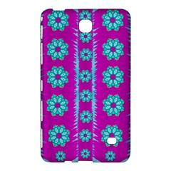 Fern Decorative In Some Mandala Fantasy Flower Style Samsung Galaxy Tab 4 (7 ) Hardshell Case  by pepitasart