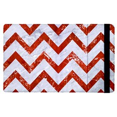 Chevron9 White Marble & Red Marble (r) Apple Ipad Pro 9 7   Flip Case by trendistuff