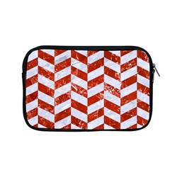 Chevron1 White Marble & Red Marble Apple Macbook Pro 13  Zipper Case by trendistuff