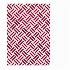 Woven2 White Marble & Red Leather (r) Large Garden Flag (two Sides) by trendistuff