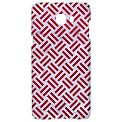 Woven2 White Marble & Red Leather (r) Samsung C9 Pro Hardshell Case  by trendistuff
