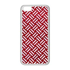 Woven2 White Marble & Red Leather Apple Iphone 5c Seamless Case (white)