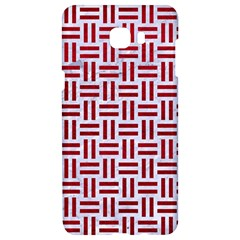 Woven1 White Marble & Red Leather (r) Samsung C9 Pro Hardshell Case  by trendistuff