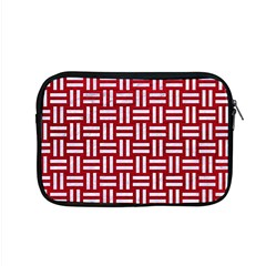 Woven1 White Marble & Red Leather Apple Macbook Pro 15  Zipper Case by trendistuff