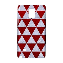 Triangle3 White Marble & Red Leather Samsung Galaxy Note 4 Hardshell Case