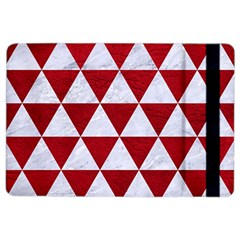Triangle3 White Marble & Red Leather Ipad Air 2 Flip by trendistuff