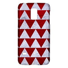Triangle2 White Marble & Red Leather Galaxy S5 Mini