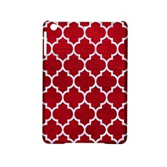 Tile1 White Marble & Red Leather Ipad Mini 2 Hardshell Cases by trendistuff