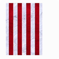Stripes1 White Marble & Red Leather Large Garden Flag (two Sides) by trendistuff