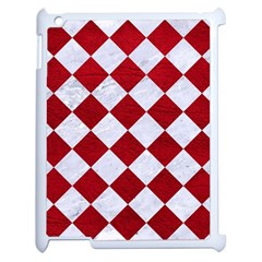 Square2 White Marble & Red Leather Apple Ipad 2 Case (white) by trendistuff