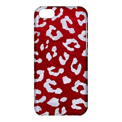 Skin5 White Marble & Red Leather (r) Apple Iphone 5c Hardshell Case by trendistuff