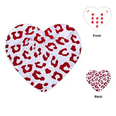 Skin5 White Marble & Red Leather Playing Cards (heart)  by trendistuff