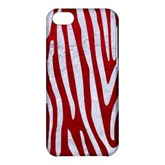 Skin4 White Marble & Red Leather (r) Apple Iphone 5c Hardshell Case by trendistuff