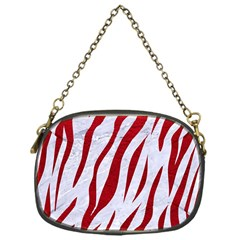 Skin3 White Marble & Red Leather (r) Chain Purses (one Side)  by trendistuff