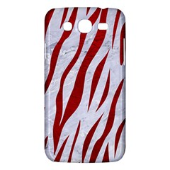 Skin3 White Marble & Red Leather (r) Samsung Galaxy Mega 5 8 I9152 Hardshell Case  by trendistuff