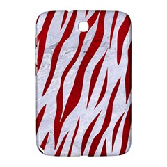 Skin3 White Marble & Red Leather (r) Samsung Galaxy Note 8 0 N5100 Hardshell Case