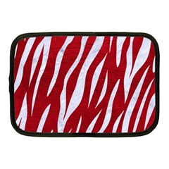 Skin3 White Marble & Red Leather Netbook Case (medium)  by trendistuff