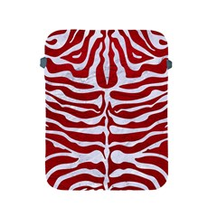 Skin2 White Marble & Red Leather Apple Ipad 2/3/4 Protective Soft Cases by trendistuff