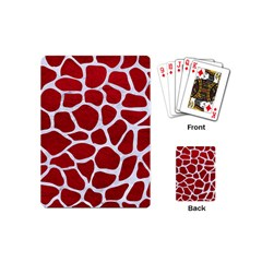 Skin1 White Marble & Red Leather (r) Playing Cards (mini)  by trendistuff