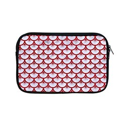 Scales3 White Marble & Red Leather (r) Apple Macbook Pro 13  Zipper Case by trendistuff