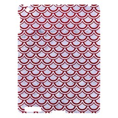 Scales2 White Marble & Red Leather (r) Apple Ipad 3/4 Hardshell Case by trendistuff