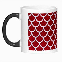 Scales1 White Marble & Red Leather Morph Mugs by trendistuff