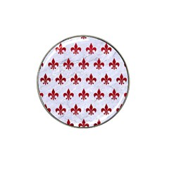 Royal1 White Marble & Red Leather Hat Clip Ball Marker by trendistuff