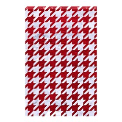 Houndstooth1 White Marble & Red Leather Shower Curtain 48  X 72  (small)  by trendistuff