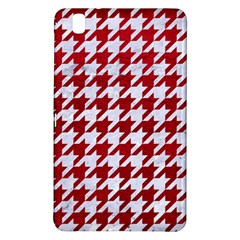 Houndstooth1 White Marble & Red Leather Samsung Galaxy Tab Pro 8 4 Hardshell Case by trendistuff