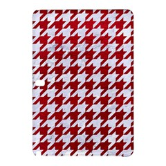 Houndstooth1 White Marble & Red Leather Samsung Galaxy Tab Pro 12 2 Hardshell Case by trendistuff