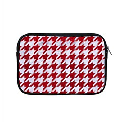 Houndstooth1 White Marble & Red Leather Apple Macbook Pro 15  Zipper Case by trendistuff