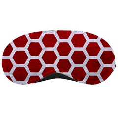 Hexagon2 White Marble & Red Leather Sleeping Masks by trendistuff
