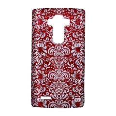 Damask2 White Marble & Red Leather Lg G4 Hardshell Case by trendistuff