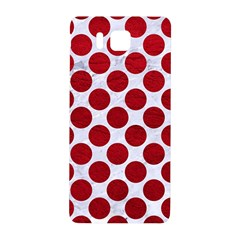 Circles2 White Marble & Red Leather (r) Samsung Galaxy Alpha Hardshell Back Case by trendistuff
