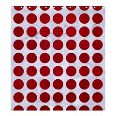 Circles1 White Marble & Red Leather (r) Shower Curtain 66  X 72  (large)  by trendistuff