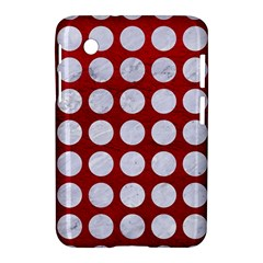 Circles1 White Marble & Red Leather Samsung Galaxy Tab 2 (7 ) P3100 Hardshell Case  by trendistuff