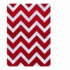 Chevron9 White Marble & Red Leather Small Garden Flag (two Sides) by trendistuff